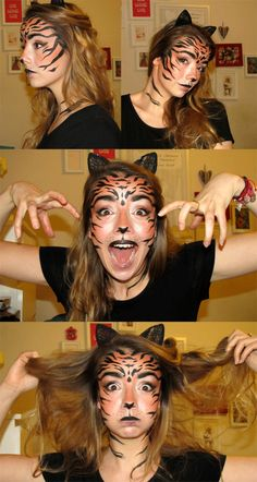 #Tiger #make-up #originalfancydressmakeup #howtolooklikeatiger #Roar