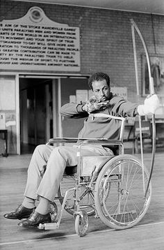 In 1969, Bikila was driving his car when he had to swerve to avoid a group of protesting students. He lost control of the car and it landed in a ditch, trapping him. He was freed but the accident left him quadriplegic. His condition improved to paraplegic. Niskanen convinced him to take up archery and Bikila entered competitions for athletes in wheelchairs. On 25 October 1973, Bikila died at the age of 41 from a cerebral hemorrhage, a complication related to the car accident.