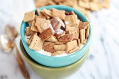 Homemade Cinnamon Toast Crunch with coconut oil and whole wheat flour.