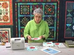 Sharon Pederson presents Rose of Sharon Applique Quilts, Embroidery Applique, Machine Embroidery Designs, The Quilt Show, Quilt As You Go, Quilting Tutorials, Sewing Tutorials, Applique Tutorial, Rose Of Sharon