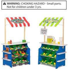 Melissa & Doug Grocery Store/Lemonade Stand (Play Food, Wooden Play Center, Portable Plastic Bins, Sturdy Construction, Great Gift for Girls and Boys - Best for and 6 Year Olds) Kids Lemonade Stands, Play Grocery Store, Fabric Awning, Wooden Playset, Star Wars, Plastic Bins, Play Centre, Melissa & Doug, Play Food