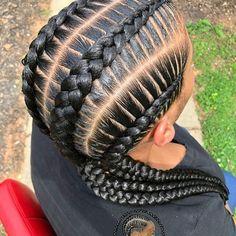 Book 4 Stitch Braids for this look Swipe left! Book 4 Stitch Braids for this l Book 4 Stitch Braids for this look Swipe left! Book 4 Stitch Braids for this look Swipe left! Black Girl Braids, Braids For Black Hair, Girls Braids, 4 Cornrows Braids, Twist Braids, Twists, Box Braids Hairstyles, Hair Updo, Formal Hairstyles