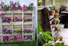 #Jardins #verticais feitos em #paletes. #Adoro! Saiba como fazer mais coisas em http://www.comofazer.org