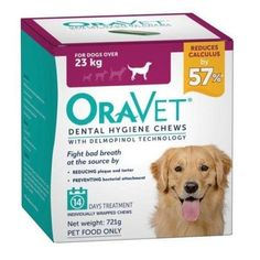 Oravet Dental Chews for Dogs over 23kg - 14 in a Box