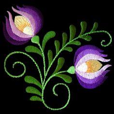 Polish Folk Art Machine Embroidery Design