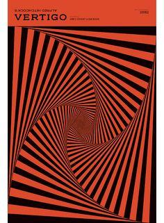 Alfred Hitchcock's Vertigo, cover by Nathan Godding // #graphicDesign