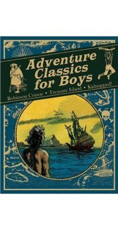 Adventure Classics for Boys: Robinson Crusoe, Treasure Island, Kidnapped!  #WhimsicalUmbrella #Book #Gift whimsicalumbrella.com