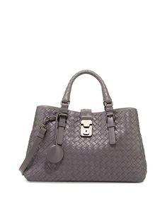 60954c731ad6 Bottega Veneta Roma Leggero Small Tote Bag Gray  bags Small Tote Bags