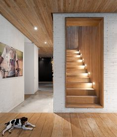 60 Inspiring Scandinavian Dining Room Design for Small Space - About-Ruth Architecture Details, Interior Architecture, Stairway Lighting, Woodland House, Concrete Stairs, Staircase Design, Basement Staircase, Small Staircase, Interior Stairs