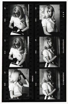 """Eric Swayne, Catherine Deneuve Contact Sheet , circa 1963. """