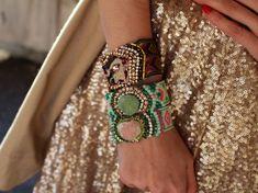 Bohemian Glam!  #coachella #hippie #boho #bracelet #armcandy #pink #green #bohemian  https://www.etsy.com/uk/listing/516156541/swarovski-friendship-bracelet-druzy?ref=listing-shop-header-1