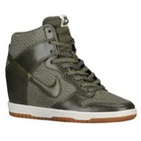 8b20a348b37 Nike Dunk Sky Hi - Women s - Olive Green   White Nike Wedge Sneakers