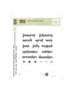 Red Hot Stampers: Paper Pumpkin December 2015: One Great Year - January 2016: Cute Conversations