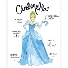 Look what I found on Cinderella Diary Sketch Wrapped Canvas All Disney Princesses, Cinderella Disney, Disney Princess Drawings, Disney Princess Art, Disney Princess Pictures, Disney Fan Art, Disney Dream, Cute Disney, Disney Pictures
