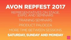 A list of the events!  #avonrep #repfest2017