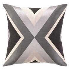 Trina Turk Building Charcoal Embroidered Pillow PH24TT65CC20SQ