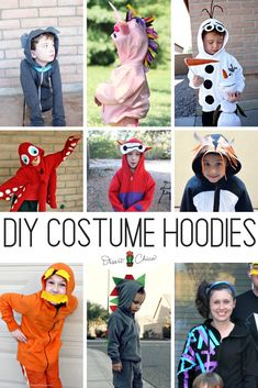 Disney Costumes DIY Costume Hoodies are an awesome option for Halloween. There are lots of fun animal and geek options perfect as cosplay sweatshirt jackets too. Diy Costumes For Boys, Unique Halloween Costumes, Easy Costumes, Homemade Costumes, Disney Costumes, Halloween Kostüm, Costume Ideas, Animal Costumes Diy, Halloween Cocktails