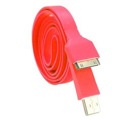 Roll-up USB iPhone charger that doesn't get all tangled up. Pretty useful!