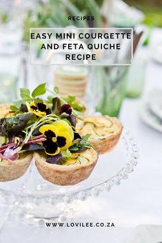 Easy mini Courgette and Feta Quiche recipe