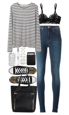"""""""Outfit for college"""" by ferned ❤ liked on Polyvore featuring Acne Studios, La Perla, Converse, T By Alexander Wang, INDIE HAIR, philosophy, Forever 21 and Yves Saint Laurent"""