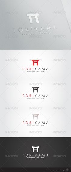 Toriyama Logo  #GraphicRiver         Toriyama is a clean, professional and elegant logo suitable for any kind of business or personal identity which requires a solid and noble image. Features   4 Variations: Red, Grey, Warm White and White  100% Re-