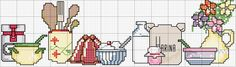 Schema punto croce Cocina