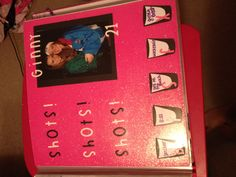 shot book page Birthday Shots, My Best Friend's Birthday, 22nd Birthday, 21st Birthday Checklist, 21st Bday Ideas, 21st Shot Book, Shot Book Pages, Frame Crafts, Milestone Birthdays