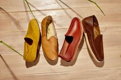 LACELESS IS MORE from left: Arno Shoes, $320, mrhare.com; Slip-On Shoes, $190, Sabah, 646-864-0790; Slip-On...