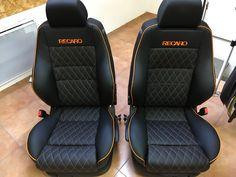 Recaro Car Seat Upholstery, Automotive Upholstery, Custom Car Interior, Car Interior Design, Vw Mk4, Volkswagen Jetta, Gol Gts, Corsa Wind, Nissan Altima Coupe