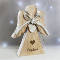 Any Name Rustic Wooden Angel