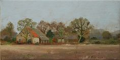 Boerderij De Luijenbergh (30 x 60 cm) by Gineke Zikken Countryside, Amsterdam, Paintings, Art, Kunst, Art Background, Paint, Painting Art, Performing Arts
