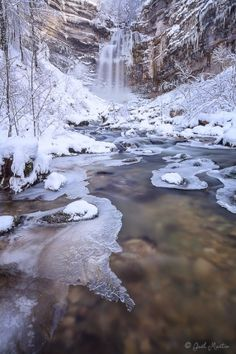 From The Edge Of the Deep Crystal River: Grand Saut Waterfall, Jura, France (Gaël Martin) Places Around The World, Around The Worlds, Landscape Photography, Nature Photography, Travel Photography, Winter Magic, Winter Scenery, Snow Scenes, Winter Beauty