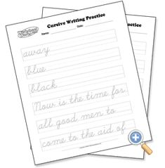 Tracing Cursive Handwriting - Generator let you create handwriting practice sheets with the text you provide.