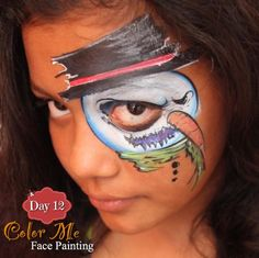 25 Days of Christmas Face Painting. A creepy snowman - Color Me Face Painting
