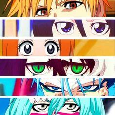 Bleach eyes. tags: Ichigo Kurosaki, Rukia Kuchiki, Orihime Inoue, Ulquiorra Cifer, Grimmjow, and Nel.