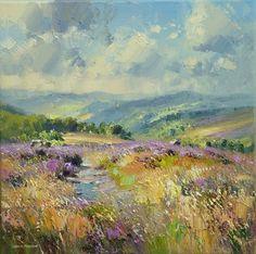 British Artist Rex PRESTON - Early August, Burbage Moor