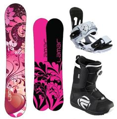 Lamar Essence Complete Women's Snowboard Package with Head Velvet Bindings and Flow Vega BOA Women's Boots Board Size 144-Boot Size-8 by Lamar. $329.99. We Want To Facilitate The Essence Of Snowboarding To You With This Great Board Built On A Cap Construction For Better Power Distribution To The Edge. Coupled With A 1 Degree Base And 2 Degree Side Bevel To Eliminate Edge Catches This Board Is Fun. For A Playful, Loose Feel We'Ve Thrown It On An Anti-Cam Camber Profil...