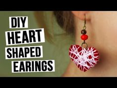 In this tutorial we will show you the way of making stylish yarn earrings. These DIY heart earrings will make a wonderful gift or accomplish your romantic look. #diyearrings #heart #eveninglook