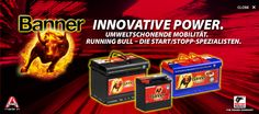 Autobatterien | Banner Batterien Banner Running Bull