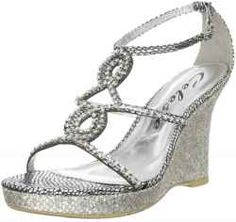 Silver Wedge Sandals- maybe for Ashley's wedding?
