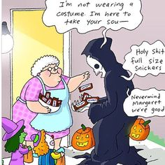 Even the grim reaper can't resist full sized snickers