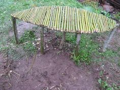 Live willow bench made by 4th grade SunRidge Students and their gardening teacher