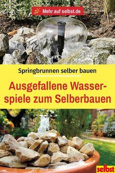 Ob als hohe #Wasserfontäne, als schillernd beleuchteter #Springbrunnen oder als tosender #Wasserfall – #Wasserspiele bereichern jeden Garten!