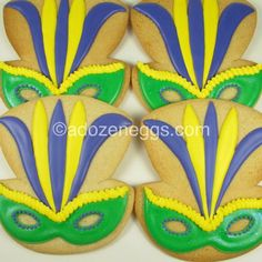 Masquerade Cookies-stunning! | cookies | Pinterest | Masquerades, Blue ...