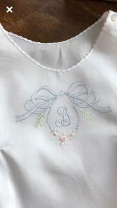 Embroidery Scissors Meaning Embroidery Designs By Hand Baby Applique, Baby Embroidery, Embroidery Monogram, Embroidery Transfers, Shirt Embroidery, Embroidery Patterns Free, Silk Ribbon Embroidery, Hand Embroidery Designs, Vintage Embroidery