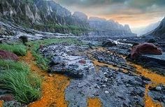 Mount Pinatubo, acidic stream in a volcanic land. Just a 4 hour drive from the call centers of Manila.