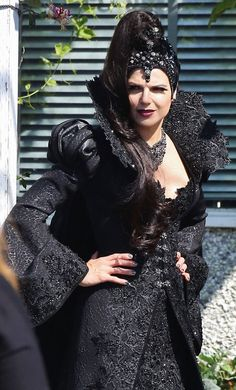 Lana Parrilla on the set of 'Once Upon A Time' - August 19, 2014 <3