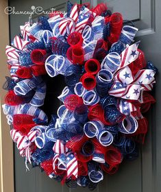 4th of July Wreath Fourth of July Wreath Summer Wreath
