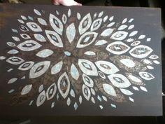 Scrapbook paper art I made.