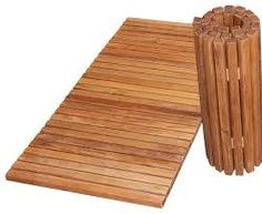 Image result for wooden bath mat